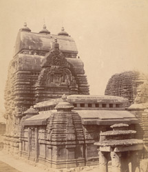 General view from the south-east of the Vaital Deul Temple, Bhubaneshwar